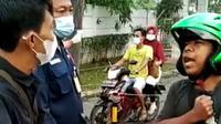 Potongan Layar Video Pekerja Tidak Percaya Covid Dan Enggan Pakai Masker. (Rabu, 07/07/2021). (Liputan6.com/Yandhi Deslatama).
