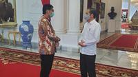 Presiden Joko Widodo (Jokowi) dan Ketua Umum Taruna Merah Putih (TMP) Maruarar Sirait di Istana Merdeka. (Istimewa)