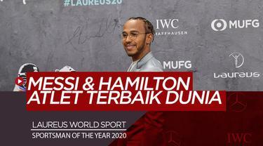 Berita Video Lionel Messi dan Lewis Hamilton menangi Laureus World Sports Awards 2020