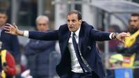 Pelatih Juventus, Massimiliano Allegri, menilai kemenangan atas AC Milan membuktikan timnya sudah kembali ke jalur perburuan gelar juara. (AP Photo/Antonio Calanni)