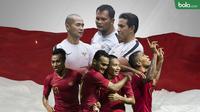 Bima Sakti, Kurniawan Dwi dan Kurnia Sandi melatih Timnas Indonesia di Piala AFF 2018. (Bola.com/Dody Iryawan)