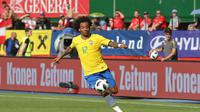 Marcelo menjadi bagian tim pertahanan Selecao yang semakin kokoh jelang Piala Dunia 2018. (Bola.com / Reza Khomaini)