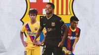 Barcelona - Riqui Puig, Ansu Fati, Pedri (Bola.com/Adreanus Titus)