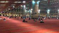 Suasana malam takbiran di Masjid Istiqlal. (Liputan6.com/Taufiqurrohman)
