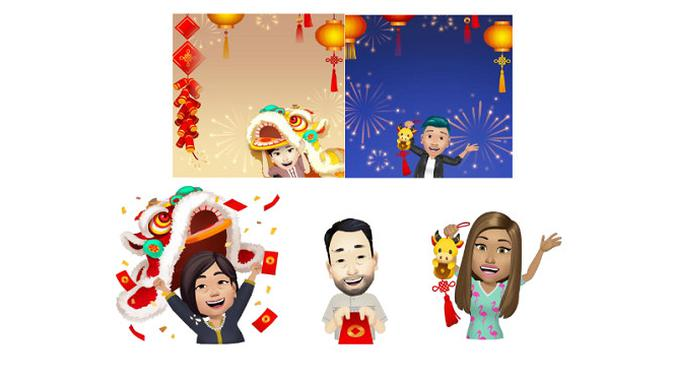 Facebook ikut meramaikan Tahun Baru Imlek kali ini dengan beragam konten menarik. (Foto: Facebook Indonesia)