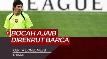 Berita Motion Grafis Perjalanan Lionel Messi Episode 1, Bocah Ajaib yang Memikat Barcelona