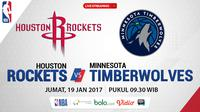 Jadwal NBA, Houston Rockets Vs Minnesota Timberwolves. (Bola.com/Dody Iryawan)