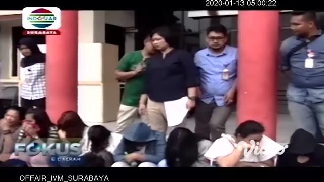 Polisi Surabaya menggerebek tempat prostitusi eks Lokalisasi Moroseneng di Kelurahan Klakah Rejo, Kecamatan Benowo. Polisi menetapkan dua tersangka.