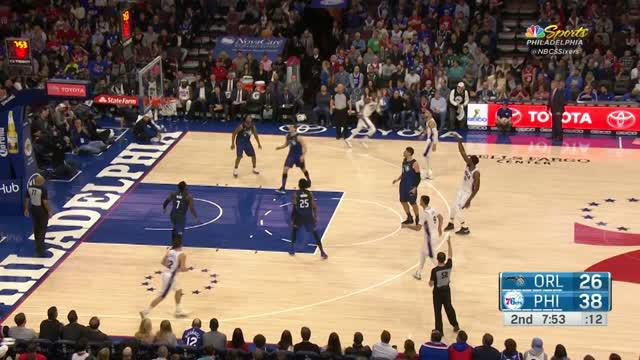 Berita video game recap NBA 2017-2018 antara Philadelphia 76ers melawan Orlando Magic dengan skor 116-105.