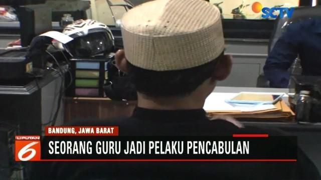 Tak terima dengan perbuatan sang guru agama, keluarga korban melampiaskan kekesalannya pada Pelaku di Polres Cimahi.