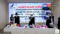 Selain produk ilegal, BPOM juga melakukan penyitaan kosmetik yang diketahui mengandung bahan-bahan berbahaya.