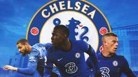 Chelsea - Ruben Loftus-Cheek, Kurt Zouma, Ross Barkley (Bola.com/Adreanus Titus)