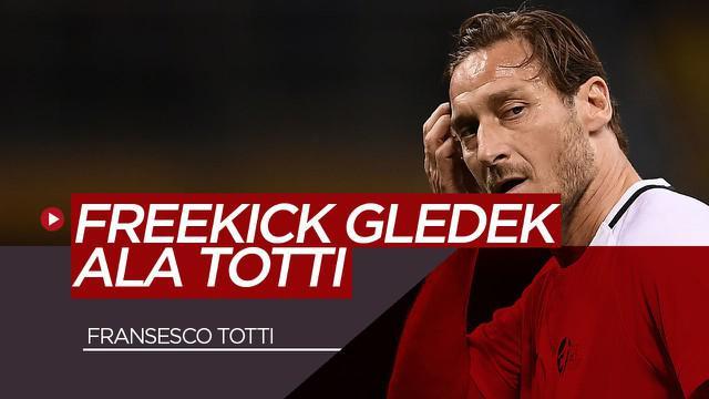 Berita Video Fransesco Totti Masih Sakti di Usia 43 Tahun, Ini Gol Hebatnya