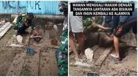 Pemuda asal Tegal ini megaku dapat bisikan untuk kubur hidup-hidup. (Sumber: TikTok/Liputan6)
