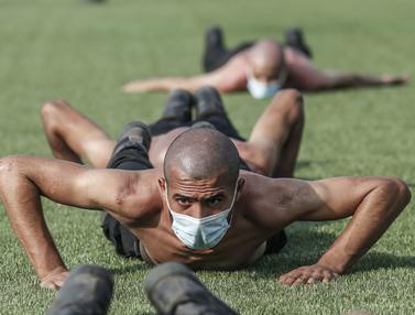 Intip Pasukan Keamanan Palestina Latihan di Tengah Pandemi
