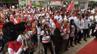 Ratusan WNI di Taiwan menyatakan dukungan kepada Jokowi-Ma'ruf Amin.