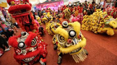 50 Barongsai Ramaikan Perayaan Cap Go Meh di Pluit