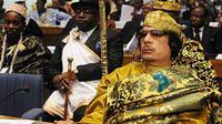 Muamar Khadafi, sosok yang pernah menjabat sebagai Presiden Libya selama 41 tahun dan disinyalir memberikan fasilitas serba gratis kepada rakyat (AFP Photo)