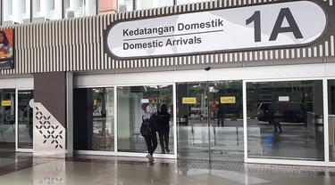 Terminal 1 Bandara Internasional Soekarno Hatta, Tangerang, Banten.