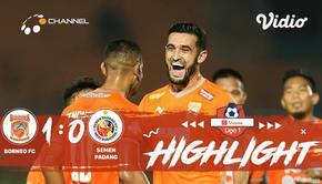 Pertandingan #ShopeeLiga1, antara #Borneo FC VS #Semen Padang yang berlangsung di stadion Segiri, Samarinda pada hari Sabtu (24/08...