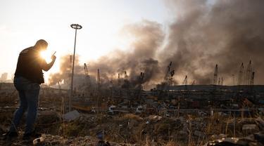 Kondisi di Beirut Lebanon Setelah Ledakan Dahsyat