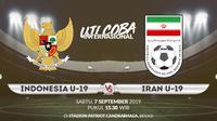 Uji coba internasional Timnas Indonesia U-19 vs Iran U-19. (Bola.com/Dody Iryawan)