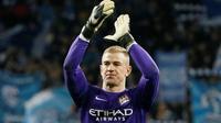 Penjaga gawang Manchester City asal Inggris, Joe Hart. (Reuters/Gleb Garanich)