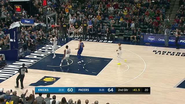 Berita video game recap NBA 2017-2018 antara Indiana Pacers melawan New York Knicks dengan skor 121-113.