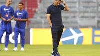 Manajer Chelsea, Frank Lampard. (AP Photo/Matthias Schrader)