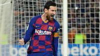 1. Lionel Messi (21 assist) - Selain banyak mencetak gol, Lionel Messi juga menjadi memiliki catatan apik dalam assist. Messi telah menyumbangkan 21 assist dari 31 laga bersama Barcelona di kompetisi La liga musim ini. (AFP/Lluis Gene)