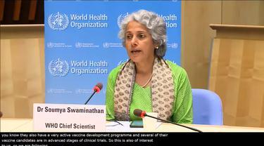 Kepala Ilmuwan WHO Soumya Swaminathan membahas vaksin COVID-19 dari China.