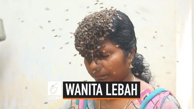 Wanita India ini melakukan aksi nekat menutupi wajahnya dengan ratusan serangga yang menyengat. Aksinya ini bertujuan untuk meningkatkan kesadaran masyarakat tentang pelestarian lebah.