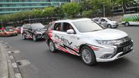 PT Mitsubishi Motors Krama Yudha Sales Indonesia (MMKSI) ikut mendukung acara Jakarta Langit Biru yang dilaksanakan, Minggu 27 Oktober 2019 di area Patung Pemuda Membangun, Senayan, Jakarta.
