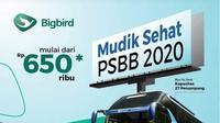 Flyer promo mudik sehat PSBB 2020 yang mencatut nama Bigbird. (dok. istimewa)
