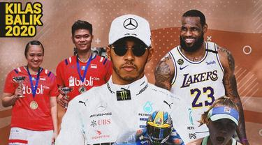 Kilas Balik 2020 - 5 Olahragawan Terbaik 2020: Lewis Hamilton, Joan Mir, Praveen/Melati, LeBron James, Sofia Kenin