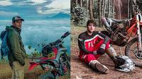 Gaya artis main motorcross (Sumber: Instagram/ibnujamilo/ammarzoni)