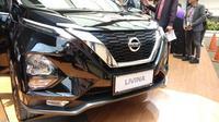 Wajah all new Nissan Livina dengan grill V-Motion. (Amal / Liputan6.com)