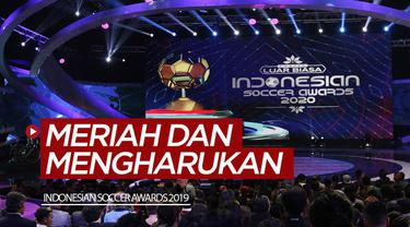 Berita video Indonesian Soccer Awards 2019 yang menghadirkan momen yang meriah, lucu, dan bahkan ada juga yang mengharukan.