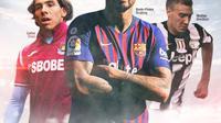 Kevin-Prince Boateng (Barcelona), Nicklas Bendtner (Juventus), Carlos Tevez (West Ham) (Bola.com/Adreanus Titus)