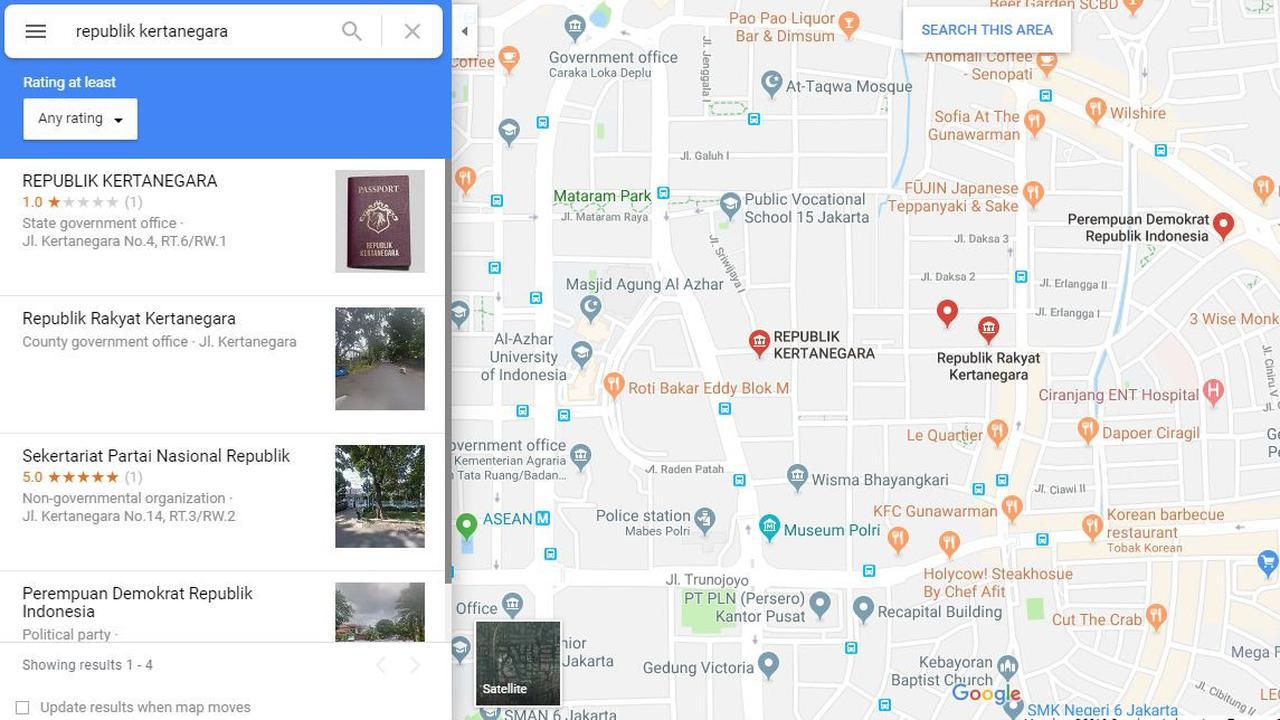 Viral! Rumah Prabowo Berubah Jadi 'Republik Kertanegara' di Maps