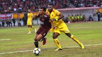 PSM Makassar menekuk Sriwijaya FC 2-0 pada pekan ke-23 Gojek Liga 1 bersama Bukalapak di Stadion Andi Mattalatta Mattoangin, Minggu (23/9/2018). (Bola.com/Abdi Satria)