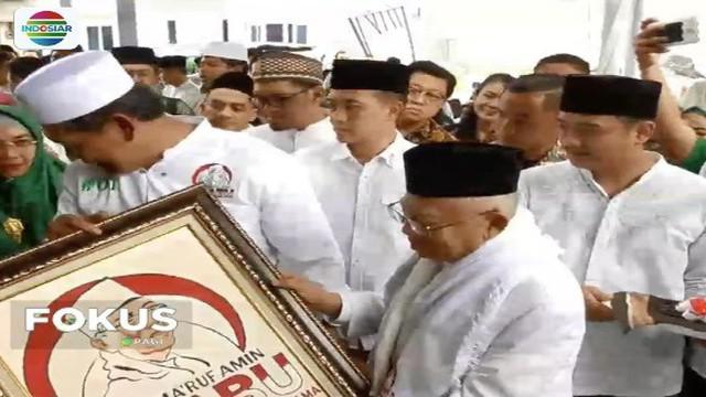 Ma'ruf Amin menyatakan pada Posko Rabu untuk tidak ragu memilih Jokowi-Ma'ruf pada Pilpres 2019.