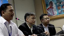 Kabag Humas BNN Kombes Pol Sumirat Dwiyanto saat memberikan keterangan pers di Gedung Badan Narkotika Nasional (BNN), Jakarta, Kamis (15/1/2015). (Liputan6.com/Faizal Fanani)