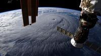 Pusat badai Lane dilihat dari citra satelit milk NASA pada Kamis 23 Agustus 2018 (NASA)