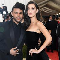 Bella Hadid dan The Weeknd (Larry Busacca / AFP)