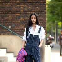 How to wear denim overall this summer - Photp: pinterest