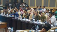 Pengurus APKASI saat dapat dengar pendapat dengan Komite IV DPD RI. (Istimewa)