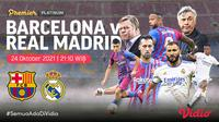 Link Live Streaming El Clasico : Barcelona vs Real Madrid di Vidio Malam Ini. (Sumber : dok. vidio.com)