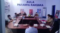 Satuan Lalu Lintas (Satlantas) Polres Kotamobagu menggelar rapat koordinasi perjanjian kerjasama atau MoU dengan instansi terkait, Senin (1/3/2021).