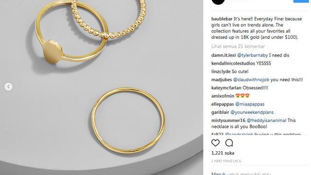 Ini Perhiasan Emas Mewah 18 Karat Dengan Harga Terjangkau Lifestyle Liputan6 Com
